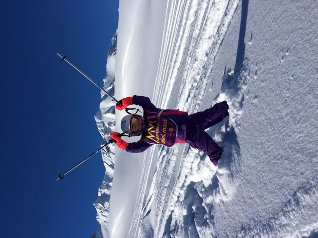 Rachel, aged 5, enjoying the powder with TANSY